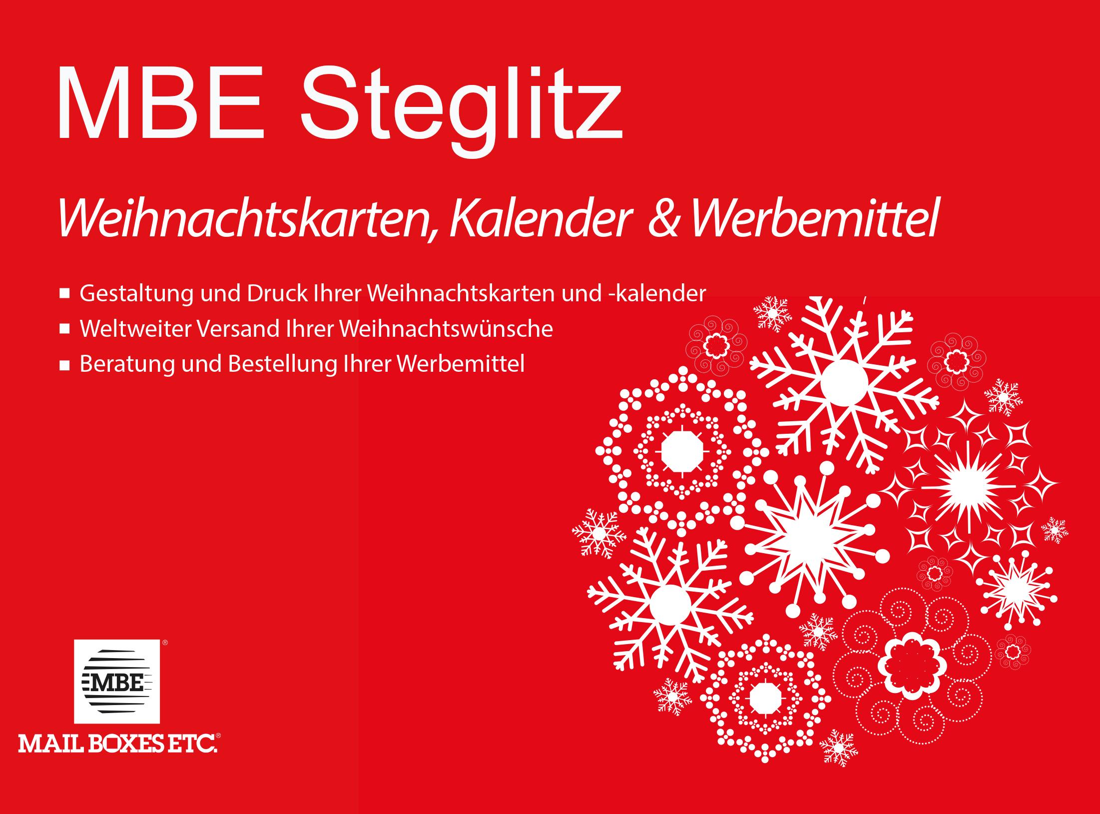 Weihnachtskarten Berlin.Weihnachten Grafik Und Druckservice In Berlin Steglitz Mail Boxes